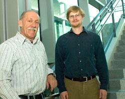 Professor of Psychology Gordon Gallup Jr. and Jeremy Atkinson