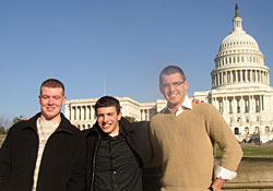Michael Buckley, Michael Krauss and Cory Maggio at the U.S. Capitol