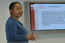 Saundra DeLauder, interim dean of Science and Technology, North Carolina Central University, a Shepherd Project guest.