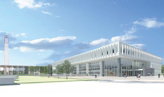 rendering of new School of Business building
