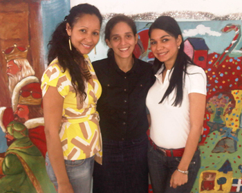 Lissette Acosta Corniel at left, created a foundation to help children in the Dominican Republic