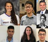 headshots of seven of the 11 chancellor's award winners for 2020