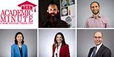 Headshots of five UAlbany faculty.