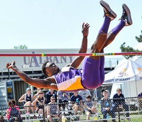 UAlbany High Jumper Matthew Campbell