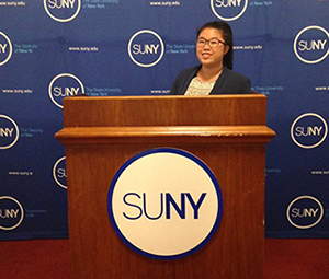 UAlbany's Melody Tien of Bayside, Queens.