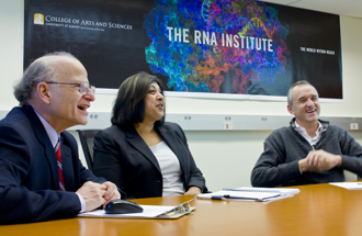 The RNA Institute and Sigma-Aldrich representatives meet