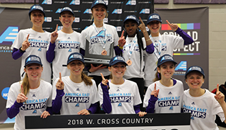 UAlbany women's cross-country, new America East champions