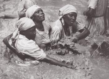 Photo by Phyllis Galembo, Three Women Vodou, showing community spirit in Souvenance, Haiti.