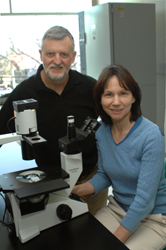 Cancer researchers Martin Tenniswood and JoEllen Welsh