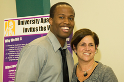 UAlbany student Rashaun Allen and Director of Residential Life Laurie Garafola
