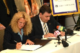 UAlbany and Albany Law School are partnering on a cooperative J.D. and M.B.A. program that will allow students to pursue and complete law and graduate-level business degrees.