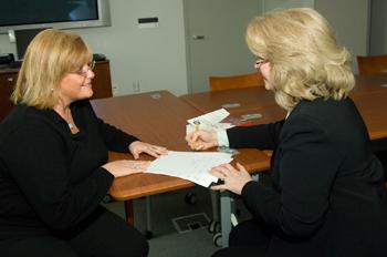 Tammy Brooks with Linda Krzykowski