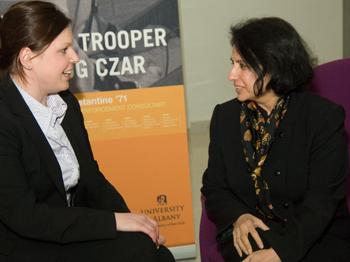 Kate Finkbeiner and her mentor, Associate Professor Rita Biswas.