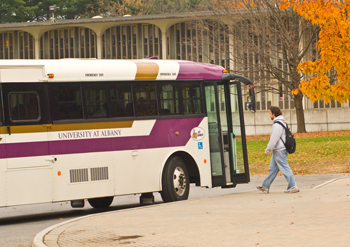UAlbany shuttle bus