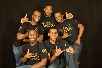 Five fraternity brothers from Alpha Phi Alpha