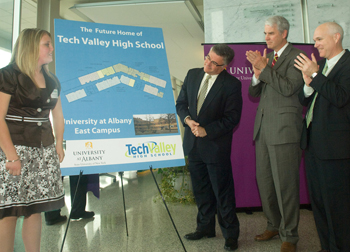 Architect's rendering of the new Tech Valley High School space
