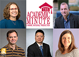 Headshots of five UAlbany faculty members