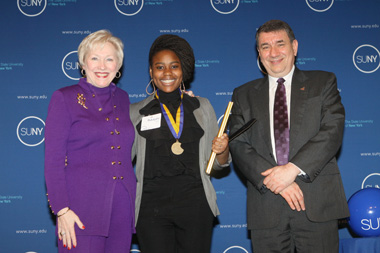 UAlbany's Rukayatu Tijani was one of 11 UAlbany students receiving the Chancellor's Award.