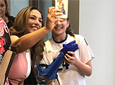 Karen Tararache of News Channel 13 - WNYT takes a selfie with Karissa Mitchell.