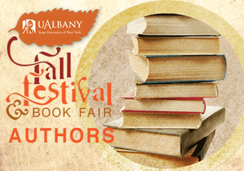 Fall Festival image and stack of books