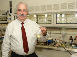 Professor Eric Block in his laboratory