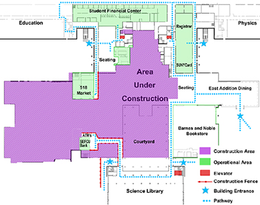 campus center construction update west addition university at