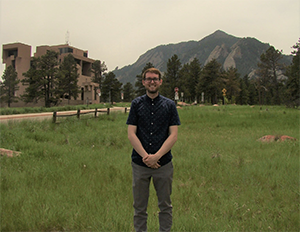DAES Ph.D. student Josh Alland in Boulder, CO at the National Center for Atmospheric Research.