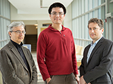Chemists Alan Chen, Maksim Royzen and Alex Shekhtman.