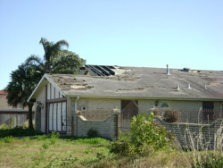 House damaged by Hurricane Katrina.