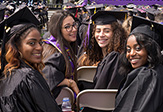Students at commencement.