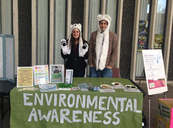 UAlbany students table during Earth Day