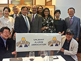 President Rodríguez meets with Great Danes' alumni and friends during East Asia trip.