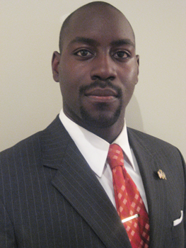 Alumnus Joseph Garba, '02, '05, deputy director of the Governor's Office of Taxpayer Accountability