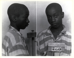 14-year-old George Stinney Jr., who was electrocuted in Clarendon County, South Carolina, and one of the youngest persons to be executed in the United States in the 20th Century