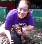 UAlbany biologist Katy Gonder is studying the Cameroon chimpanzee for new insights into the natural history of simian immunodeficiency virus and the origins of HIV-AIDS.