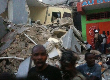 Destruction caused by 2010 Haiti earthquake