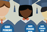 Graphic of students supporting Perkins Loans