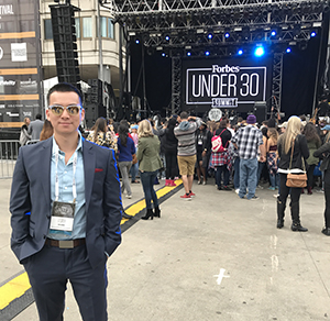 Tony Hoang at Forbes 30 Under 30 Summit