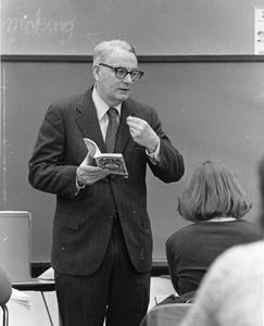 Hugh Maclean in the classroom