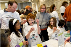 Kids gather round at 2010 UAlbany LEGO League Expo