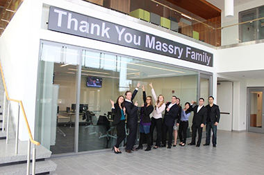 School of Business Students Thank Massry Family