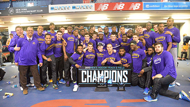 Men's 2015 Indoor Track Team