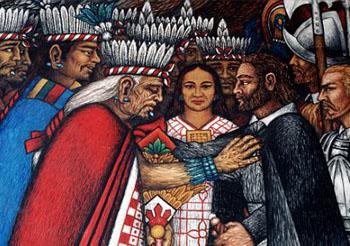 Aztec mural