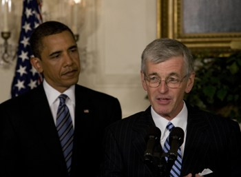 Congressman John McHugh, University at Albany alum and President Barack Obama