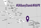 #UAlbanyStandsWithPR map graphic.