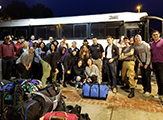 UAlbany's 30 CEHC students take a group photo before departing for Puerto Rico.