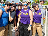 UAlbany CEHC students take a group photo while volunteering in Puerto Rico.