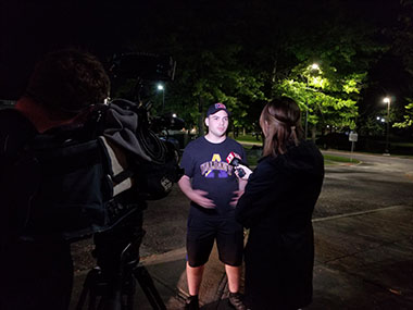 UAlbany CEHC junior Michael Apollo speaks with News Channel 13 - WNYT after returning from Puerto Rico.