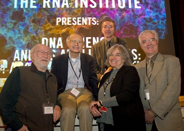 Members of the Scientific Advisory Board for The RNA Institute with Institute Director Paul Agris