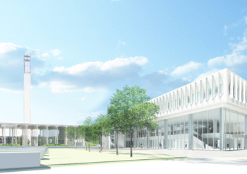 Rendering of School of Business building